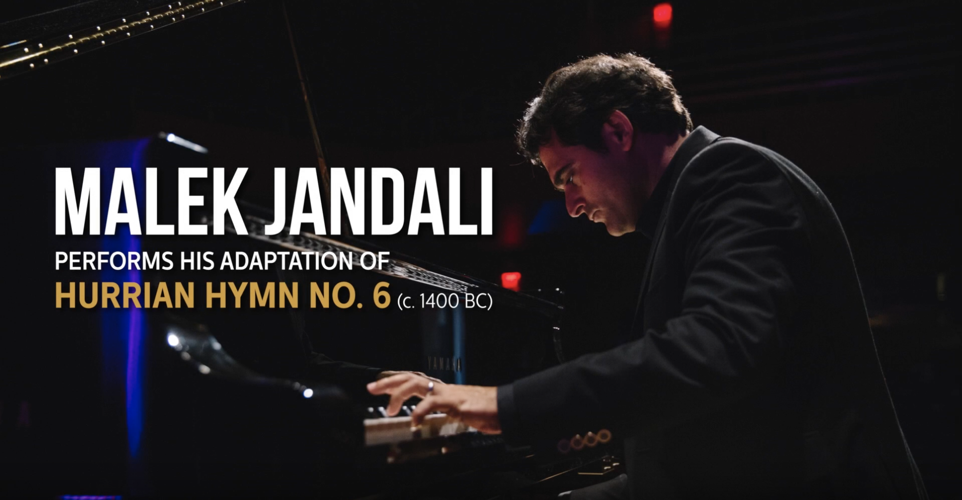 "Malek Jandali Performs His Adaptation of ""Hurrian Hymn no. 6"""