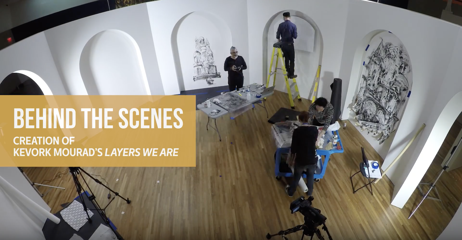 "Behind the Scenes: The paintings of Kevork Mourad in ""Layers We Are"""