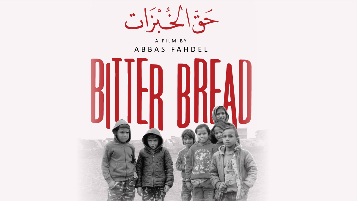 Syrian refugee children are pictured on the movie poster of the 2019 documentary Bitter Bread.