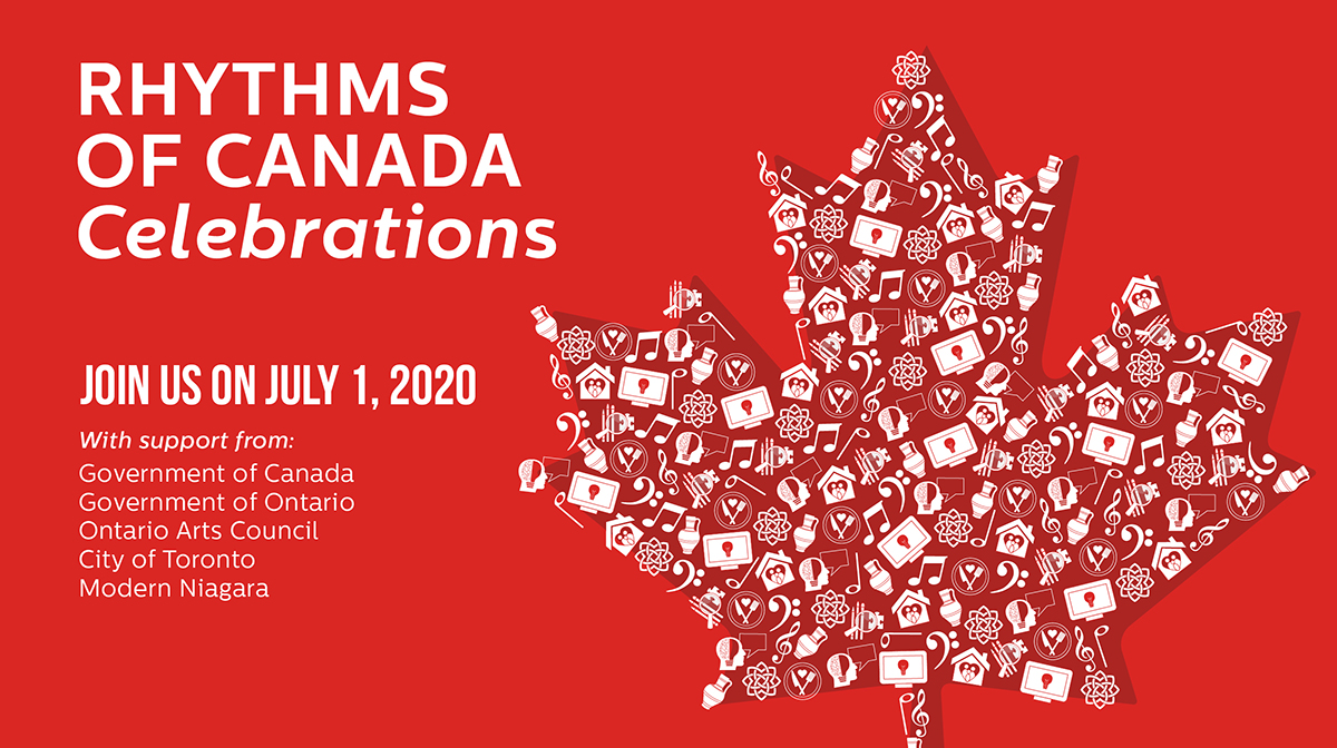 A graphic promoting the Aga Khan Museum's virtual Canada Day festivities.