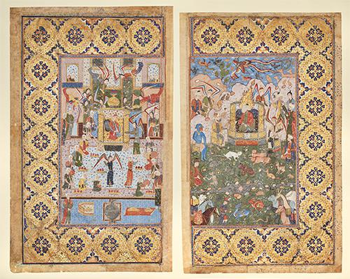 AKM410, King Solomon (Sulayman) and the Queen of Sheba (Belqis) Enthroned, Front