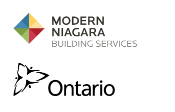 Modern Niagara logo and Ontario Government logo